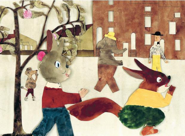 Ur Vart ska du gå? av Jockum Nordström, en barnbok för åldrarna 0 till 3 år. Rabén & Sjögren, 2013.